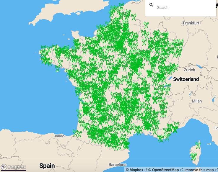 carte antennes relais 4G free 2020