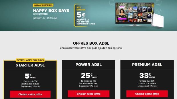 Happy Box Days De Sfr Internet à 5 Mois Pendant Un An