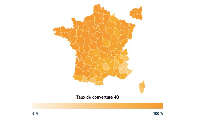carte couverture 4G orange departement 2020