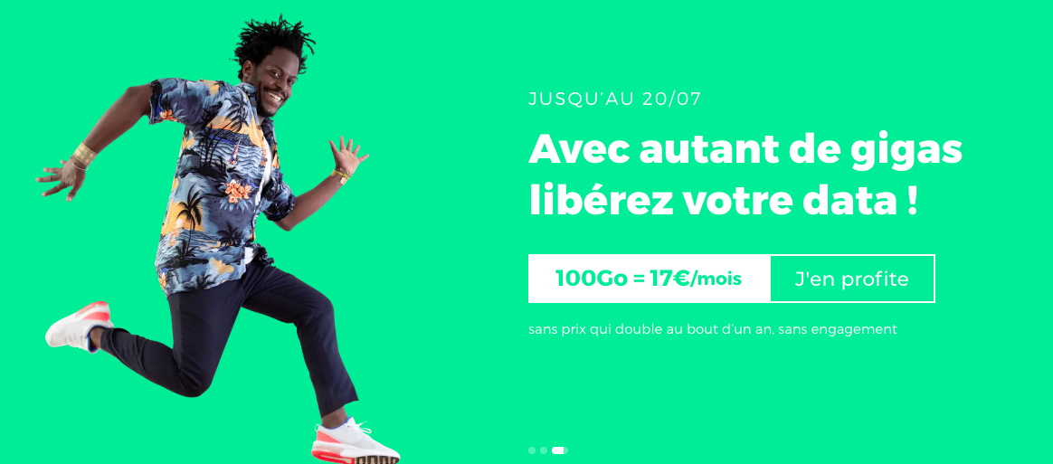forfait mobile 100 Go red