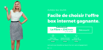 La box internet fibre THD de RED by SFR en promotion