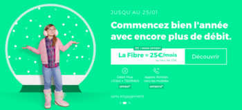 L'option Débit Plus offert sur la RED Box Fibre