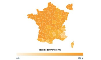 La carte couverture 4G de Orange en 2020